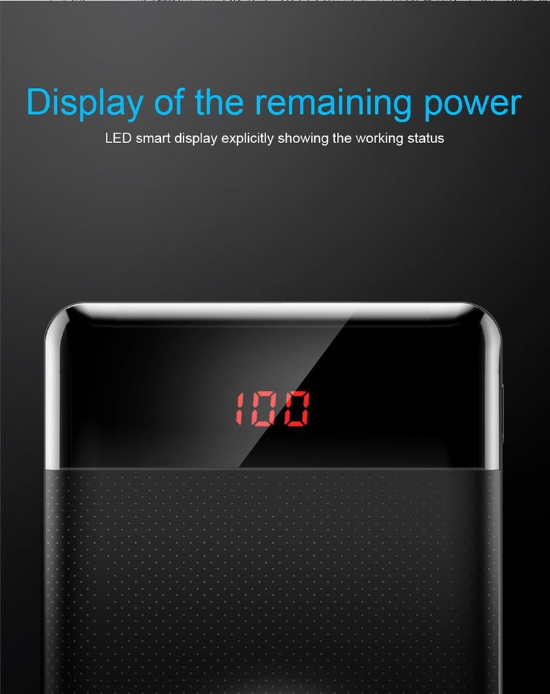 10000mAh Slim Power Bank Portable Charger