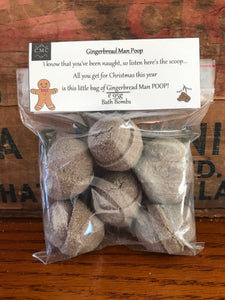 Gingerbread Man Poop Bath Bombs