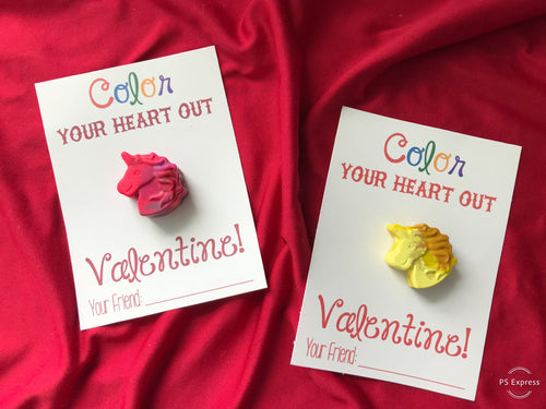 "Crayon Valentines - ""Color your Heart out"""