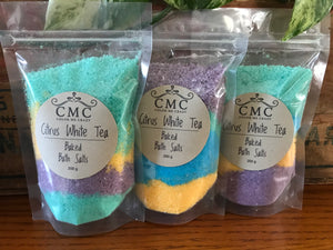 Citrus White Tea Baked Bath Salts