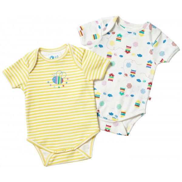 Piccalilly Baby Beehive Bodysuit Set