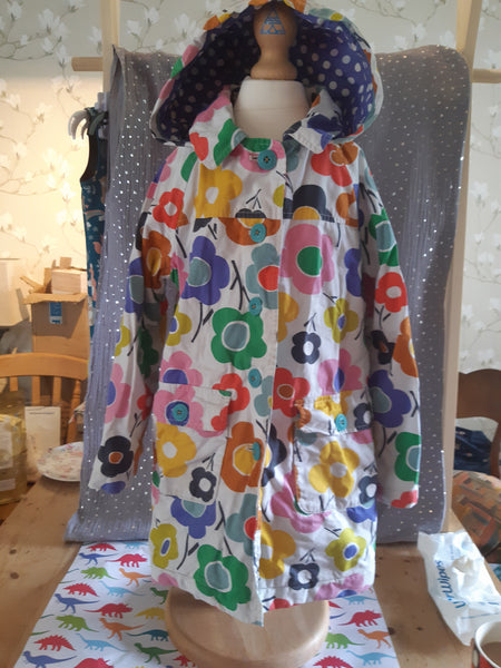 Pre- Loved Mini Boden Flower Coat 7-8 yrs