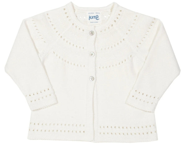 Kite Broderie Anglaise Knitted Cardigan