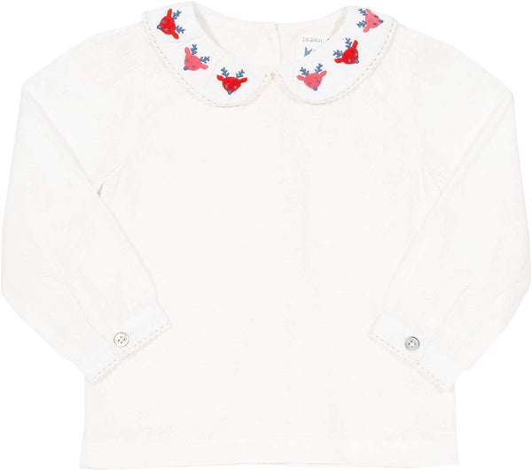 Kite reindeer Collar blouse Size 5 Years