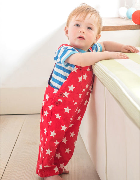 Toby Tiger Twill Red Star Dungarees
