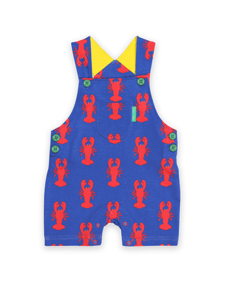 Toby Tiger Lobster Print Dungaree Short
