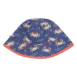 Piccalilly Ocean Crab Reversible Sun Hat
