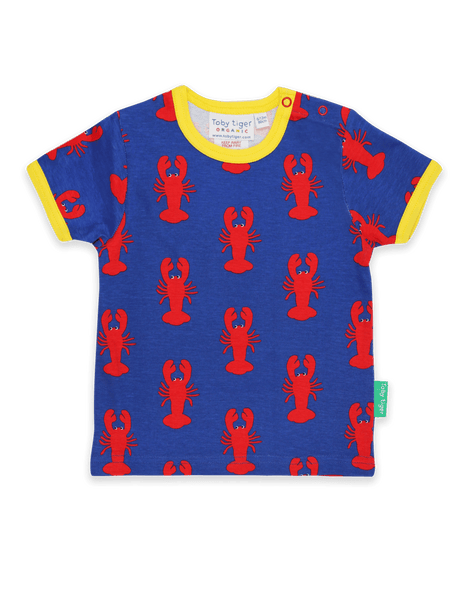 Toby Tiger Lobster Print T Shirt