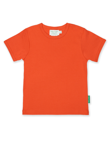 Toby Tiger Basic Orange T Shirt