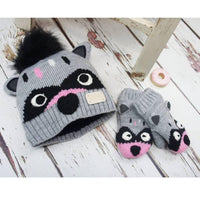 Blade & Rose Racoon Hat with Mittens