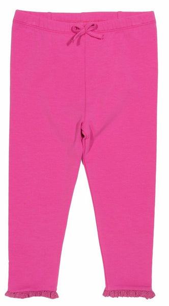 Kite Pink frill Leggings GOTS