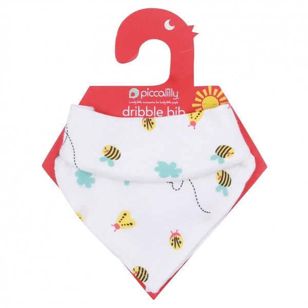 Piccalilly Little Wings Muslin Bib & Burp Cloth 35 x 35cm