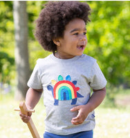 Kite Rainbow-saurus T shirt