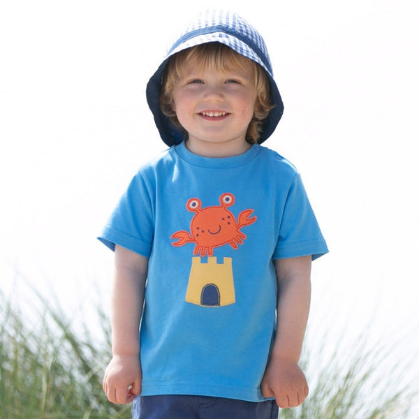 Kite Crab and Castle T shirt