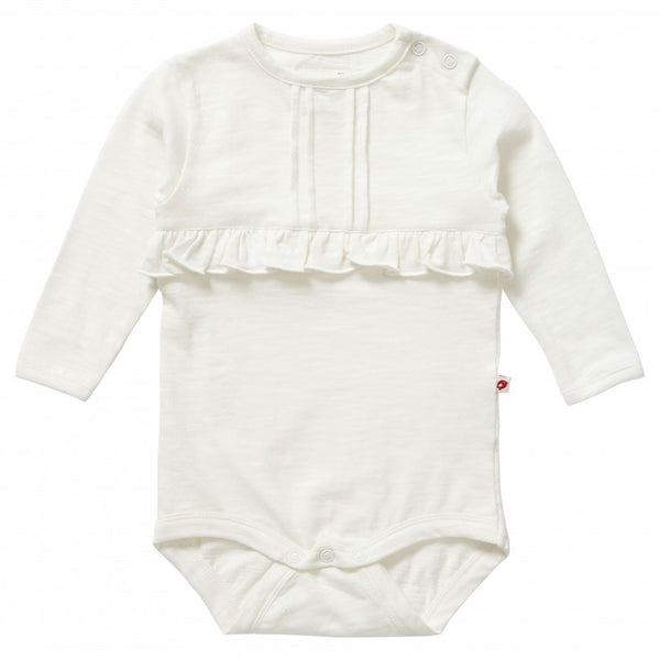 Piccalilly baby bodysuit - cream slub