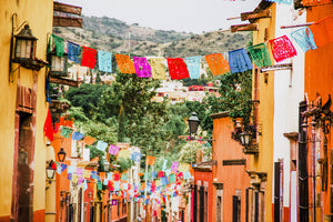 Colorful village in Mexico and inspiration for our Mexican food delivery service
