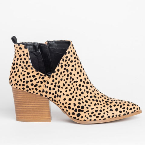 Bottines Léopard Petit Talon