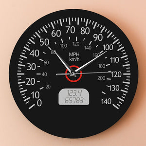 Speedometer Kilometers and Miles Printed Wall Clock