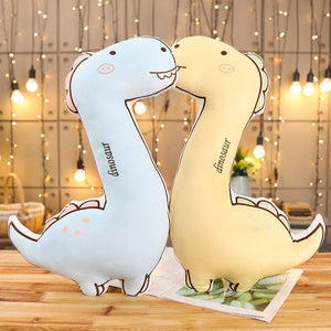 Cute Doodle Dinosaur Dragon Rex Soft Plush Stuffed Doll Pillow