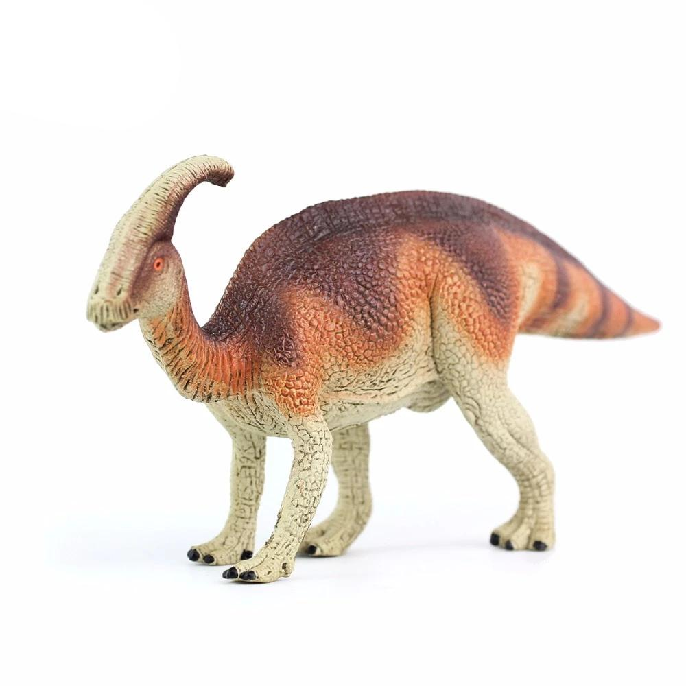 Brown Parasaurolophus Dinosaur PVC Model Toy Figures
