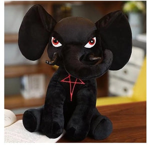 Cute Black Magic Pentacle Cthulu Baphomet Plush Stuffed Doll GIft