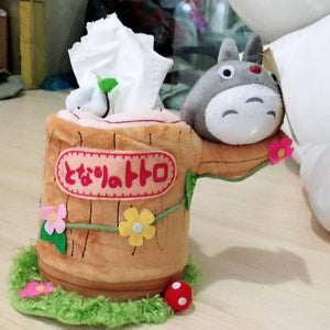 Japan Anime Tororo Round Roll Tissue Napkin Paper Holder