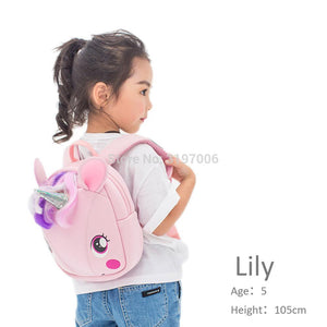 Long Horn UNICORN Children's School Bag Waterproof Backpack
