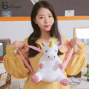 Sleeping Unicorn Soft Plush Backpack Doll Bag
