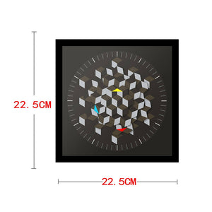 Graphic Hexagon Rotating Minimalist Wall Clock Decor Novelty Watch