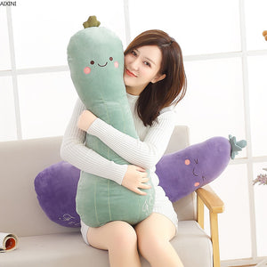 Cute Fruit Vegetable Super Long 80 Plush Pillow Doll Toy