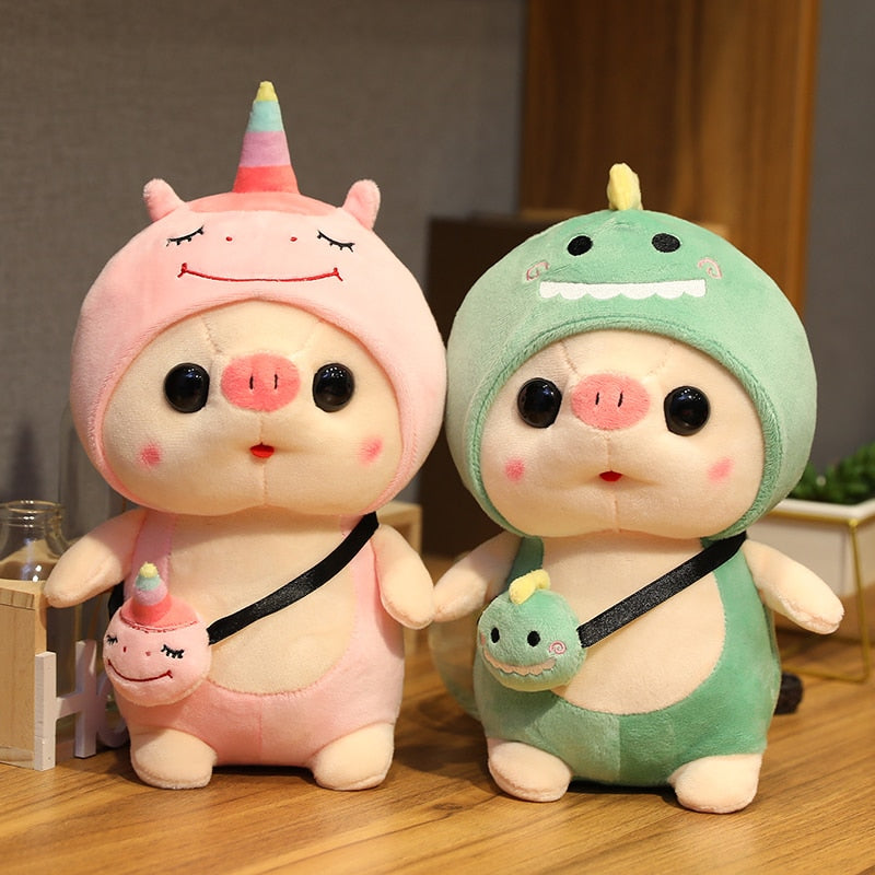 Cute Baby Pig Cosplay Monster Fruit Soft Plush Stuffed Toys Doll