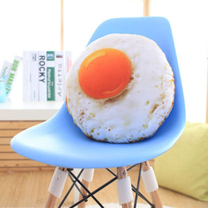 Simulation Fried Egg 40 cm Plush Stuffed Doll Cushion Pillow