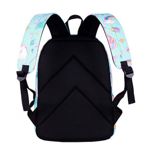 3 Pcs/Set Fancy Unicorn Print Large Capacity Tavel Backpack School Bag