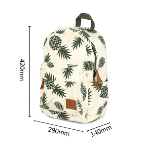 Classic Green Pineapple 15 Inch Laptop School Backpack for Teenage Girls