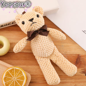 Cute Mini Teddy Bear Soft Plush Stuffed Pendant Dolls Gifts