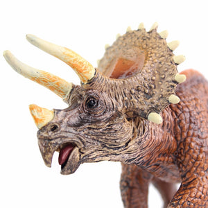Realistic Jurassic Triceratops Dinosaur Action Model Toy Figures