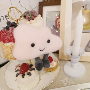 Cute Appease Star Moon Cloud Plush Doll Stuffed Keychain