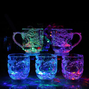 Magic Color Changing Dragon LED Light Beer Glasses Mugs