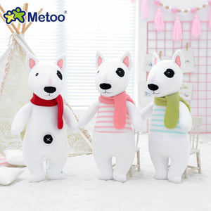 Cute Bull Terrier Puppy Plush Doll Toys with Scarf