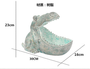 Dinosaur Mouth Open Resin Sculpture statue Home Decoration