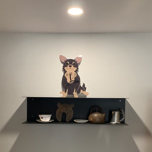 Cute Chihuahua Dog Arcylic Modern Wall Clock