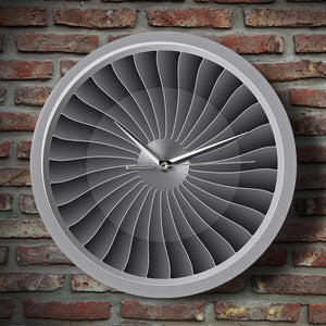 Jet Engine Turbine Fan Airplane Wall Clock