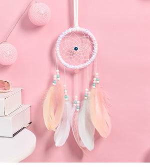 Feather Flower Night Light Walling Hanging Feather Dreamcatcher