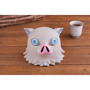 Anime Demon Slayer Funny Inosuke Pig Head PVC Piggy Bank Gift