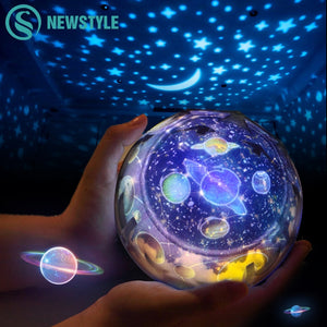 Colorful Magic Starry Sky Planet LED Night Light Projector Lamp