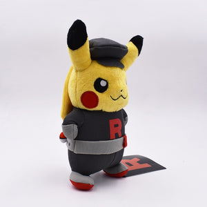 Cute Pokemon Pikachu Cosplay Rocket Team Soft Plush Stuffed Doll