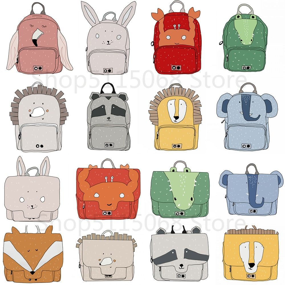Cute Cartoon Baby Animal Cartool Plush Backpack School Bag