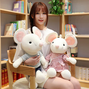 Super Cute Couple White Mouse Rat Plush Doll Gift