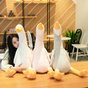 Lovely Duck Swan Fluffy Plush Stuffed Doll Huggable Pillow Gift