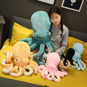 Cute Lifelike Giant Octopus Squid Plush Stuffed Doll Pillow Gifts